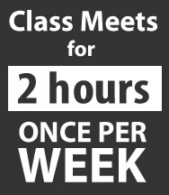 Class meets for 2 hours cnce per week